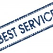 Stock Photo: Best service blue square stamp