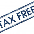 Tax free blue square stamp — Stock Photo