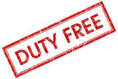 Duty-free timbro quadrato rosso — Foto Stock