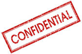 Confidential red square stamp — Stock Photo