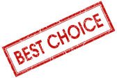 Best choice red square stamp — Stock Photo