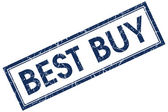 Best buy blue square stamp — Stok fotoğraf