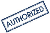 Authorized blue square stamp — Stock Photo