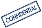 Confidential blue square stamp — Stock Photo
