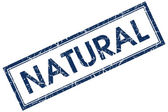 Natural blue square stamp — Stock Photo