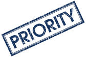 Priority blue square stamp — Stock Photo