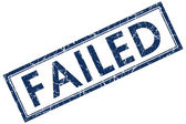 Failed blue square stamp — Stock Photo
