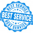 Stock Photo: Best Service Grunge Stamp