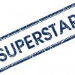 Superstar blue square stamp — Stock Photo #31055233