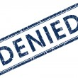Stock Photo: Denied blue square stamp