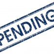 Pending blue square stamp — Stock Photo