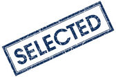 Selected blue square stamp — Stock Photo