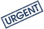 Urgent blue square stamp — Stock Photo