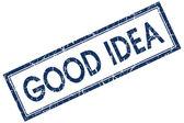 Good idea blue square stamp — Stock Photo