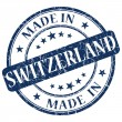 Made In Switzerland blue stamp — Stock Photo