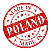 Made In Poland red stamp — Stock Photo