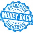 Money back blue grunge stamp — Stock Photo #32179515