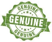 真正的绿色 grunge 邮票 — 图库照片