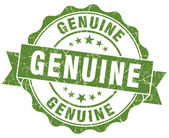 Genuine green grunge stamp — Stock Photo