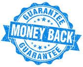 Money back blue grunge stamp — Stock Photo