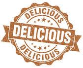 おいしい茶色グランジ スタンプ — ストック写真