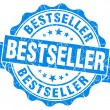Stock Photo: Bestseller blue grunge stamp