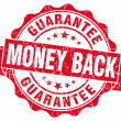 Money back red grunge stamp — Stock Photo #32183789