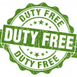Stock Photo: Duty free green grunge stamp