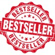 Bestseller red grunge stamp — Stock Photo