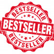 Stock Photo: Bestseller red grunge stamp