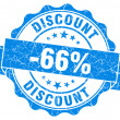 Discount blue grunge stamp — Foto Stock