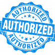 Stock Photo: Authorized blue grunge stamp