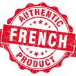 French product red grunge stamp — 图库照片