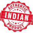 Indian product red grunge stamp — Stockfoto
