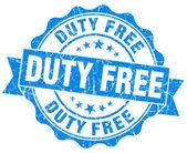 Duty free blue grunge stamp — Stock Photo
