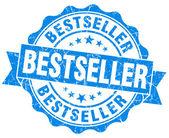 Bestseller-blau grunge-stempel — Stockfoto