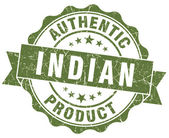 Indian product green grunge stamp — Stock Photo