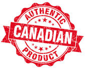 Canadian product red grunge stamp — Stok fotoğraf