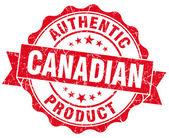 Kanada ürün kırmızı grunge damgası — Stok fotoğraf