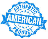 American product grunge blue stamp — Stock Photo