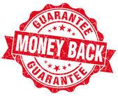 Money back red grunge stamp — Stock Photo