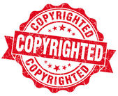 Copyrighted red grunge stamp — Stock Photo