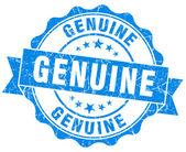 Selo de genuíno grunge azul — Foto Stock