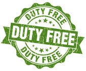 Duty free green grunge stamp — Stock Photo