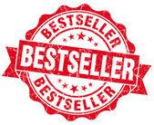 Selo de best-seller grunge vermelho — Foto Stock