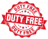 Duty free red grunge-stempel — Stockfoto