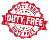 Stamp duty free grunge rojo — Foto de Stock