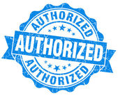 Authorized blue grunge stamp — Stock Photo