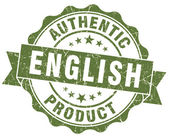 English product green grunge stamp — Stock Photo