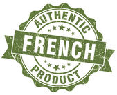 French product green grunge stamp — Stock Photo